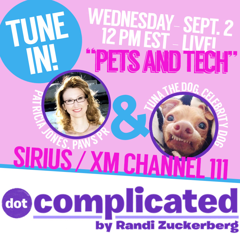 Paws PR Founder Patricia Jones on Randi Zuckerbergs Sirius Radio Show